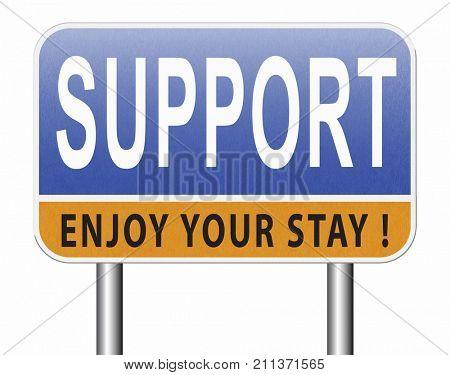 support desk icon or online help desk technical assitance and customer service 3D, illustration