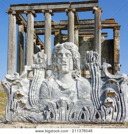 Aizanoi ancient city in Cavdarhisar, Kutahya, Turkey