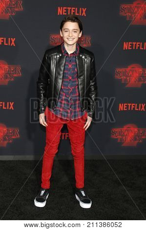 Noah Schnapp at the Netflix's season 2 premiere of 'Stranger Things' held at the Regency Village Theatre in Westwood, USA on October 26, 2017.
