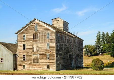 Old mill or factory in the Palouse, Washington