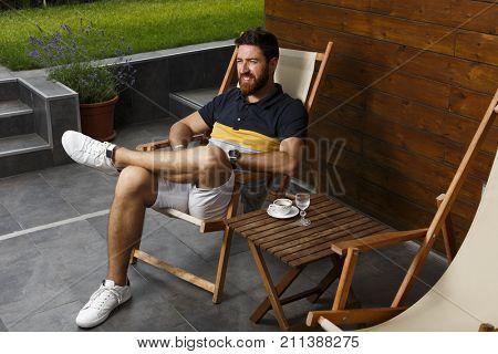 Nice man on recreation break