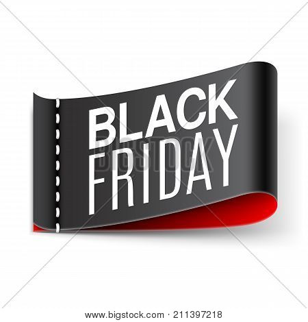 Clothing label with black friday sale anouncement