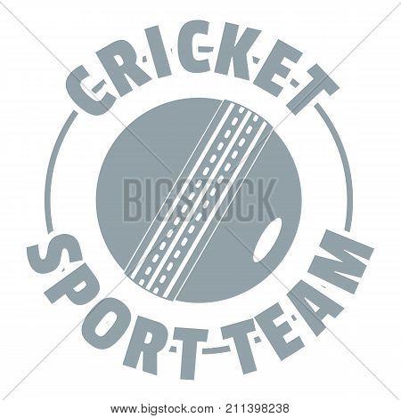 Cricket sport logo. Simple illustration of cricket sport vector logo for web