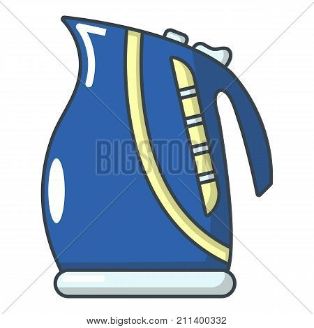 Boiling kettle icon. Cartoon illustration of boiling kettle vector icon for web