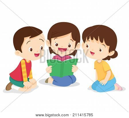 Girl Sit And Read Book