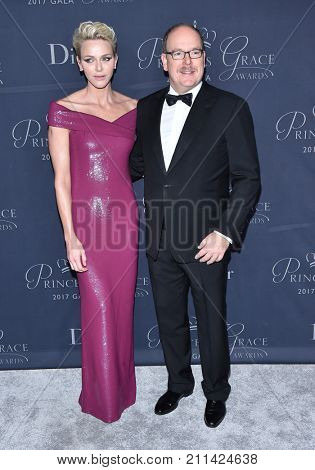 LOS ANGELES - OCT 25:  His Serene Highness Prince Albert II of Monaco, Her Serene Highness Princess Charlene of Monaco, Princess Grace Awards Gala October 25, 2017 in Beverly Hills, CA