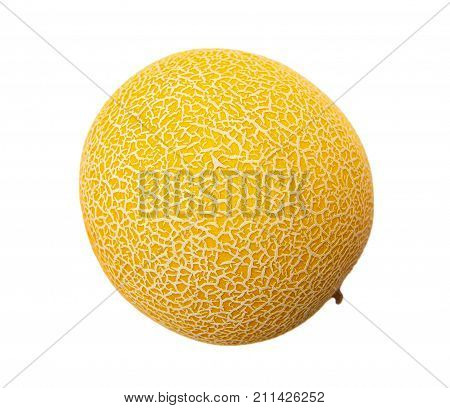Galia melon isolated on the white background
