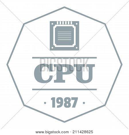 Cpu logo. Simple illustration of cpu vector logo for web