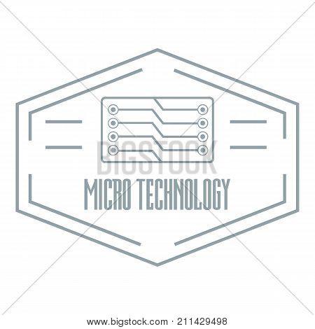 Modern micro technology logo. Simple illustration of modern micro technology vector logo for web