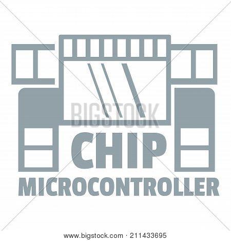 Chip microcontroller logo. Simple illustration of chip microcontroller vector logo for web