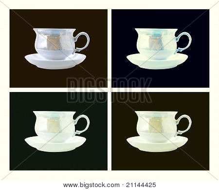 Retro Style Coffee Cup