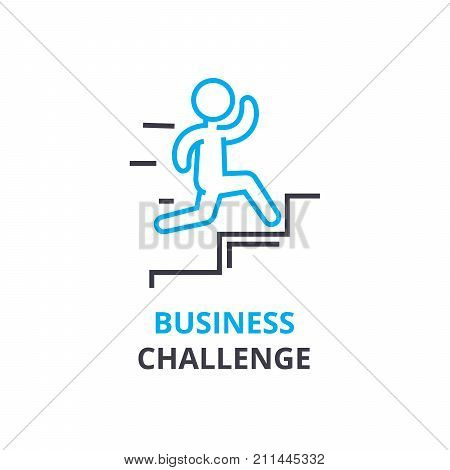 Business challenge concept , outline icon, linear sign, thin line pictogram, logo, flat illustration, vector