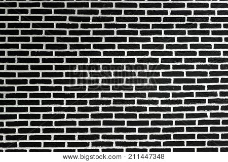 Black and white brick wall, a background