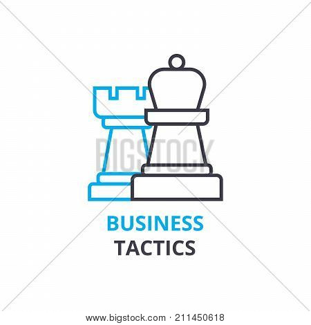 Business tactics concept , outline icon, linear sign, thin line pictogram, logo, flat illustration, vector