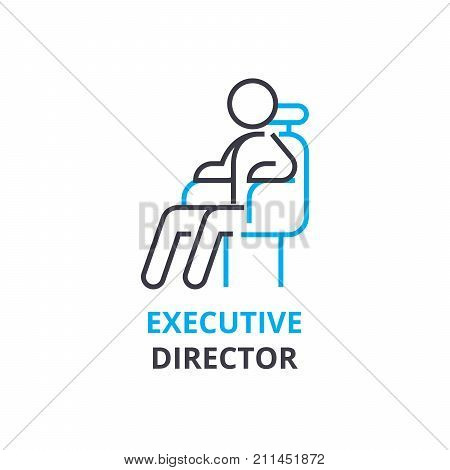 Executive director concept , outline icon, linear sign, thin line pictogram, logo, flat illustration, vector