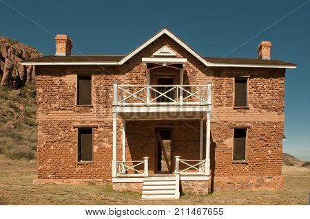 Exterior, officer's quarters, Fort Davis National Historical Site, Fort Davis, Texas.