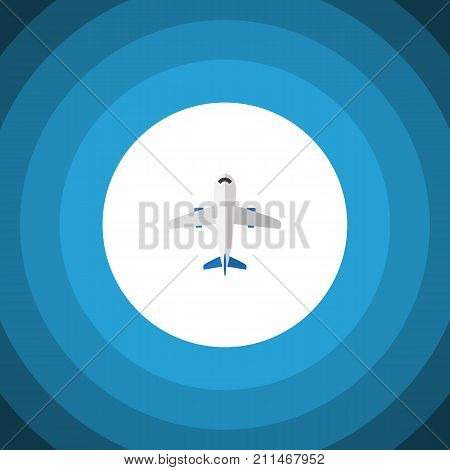 Aircraft Vector Element Can Be Used For Aircraft, Plane, Craft Design Concept.  Isolated Plane Flat Icon.