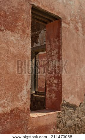 Reconstructed windows, officer's quarters, Fort Davis National Historical Site, Fort Davis, Texas.