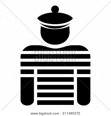 Sailor icon. Simple illustration of sailor vector icon for web