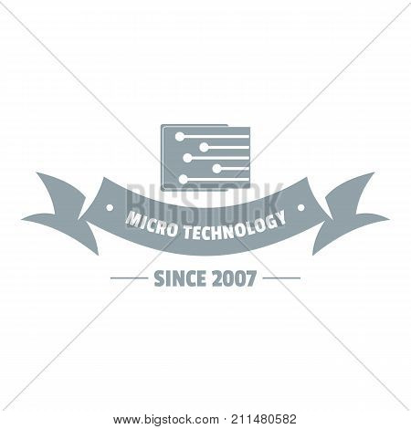 Micro technology logo. Simple illustration of micro technology vector logo for web