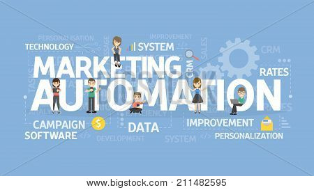 Marketing automation concept illustration. Idea of technology and business.