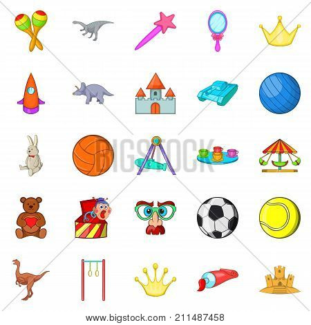 Gaud icons set. Cartoon set of 25 gaud vector icons for web isolated on white background