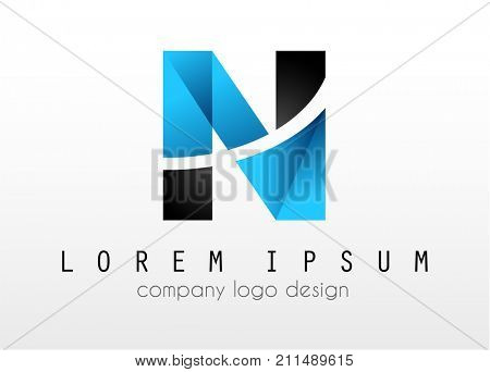 Creative Logo letter N design for brand identity, company profile or corporate logos with clean elegant and modern style.