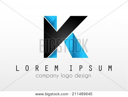 Creative Logo letter K design for brand identity, company profile or corporate logos with clean elegant and modern style.