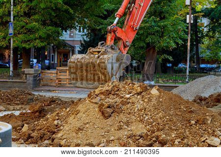 Excavator Who Digs The Road