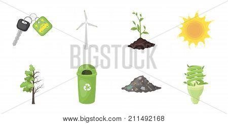 Bio and ecology icons in set collection for design. An ecologically pure product vector symbol stock  illustration.