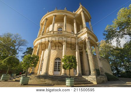 Potsdam,Germany-October 2017:castle in sanssouci park Potsdam Germany