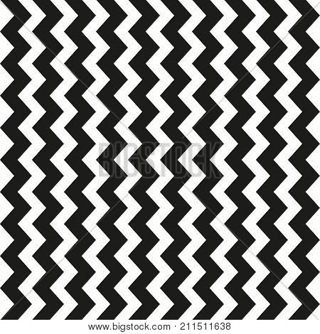 Thick lines pattern. Seamless zig zag lines texture. Vector illustration.