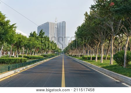 Road To The Xiamen Strait Tourism Buildin And Tourism Expo Center