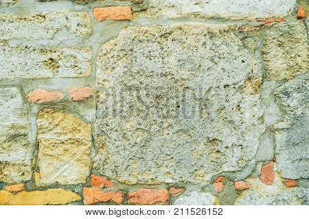 old break wall design concept pattern close up