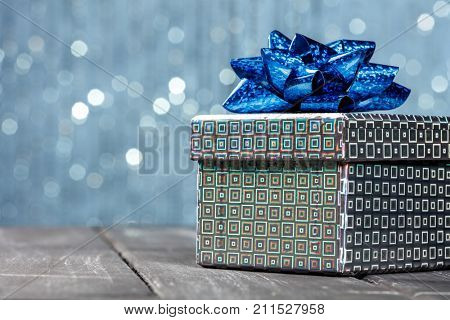 gift box with brilliant background
