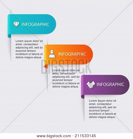 Vector Colorful Info Graphics For Your Business Presentations. Can Be Used  Website Layout, Numbered
