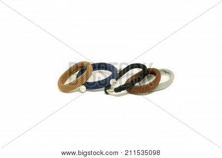 hair band on white background. rubber band. hair elastic bands. poster