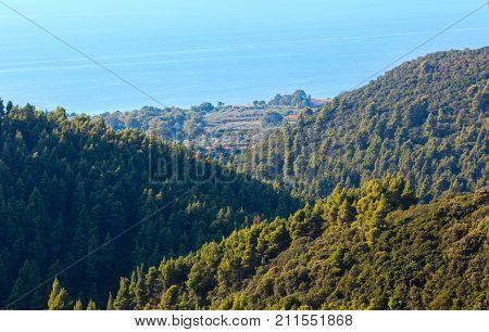 Athos Peninsula Shore (halkidiki, Greece).