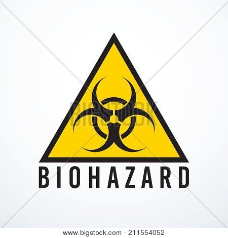 Biohazard sign isolated. Vector illustration eps 10