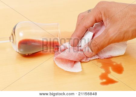 Cleaning Up A Wine Spill
