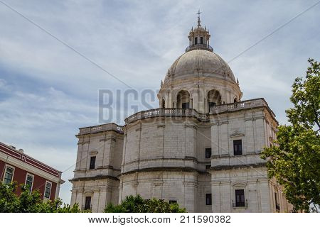 National Pantheon building details in Lisboa Portugal