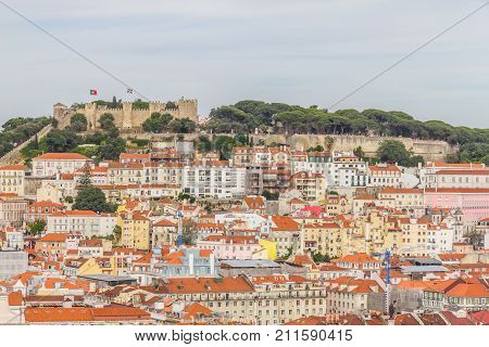 Sao Jorge Castle and Cityview of Lisboa Lisboa Portugal