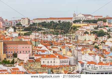 Da Graca Church And Convent And Cityview Of Lisboa