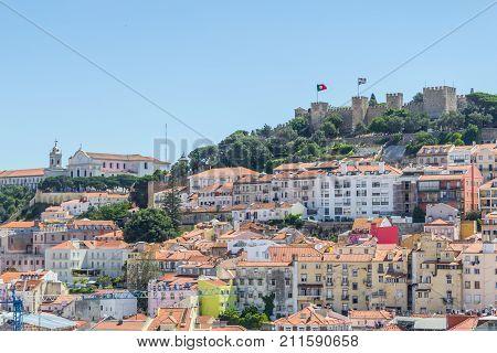 Sao Jorge Castle And Cityview Of Lisboa