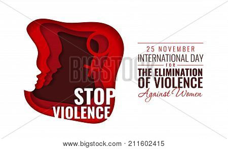 Paper Vector Illustration for International Day for the Elimination of Violence against Women With Faces of People