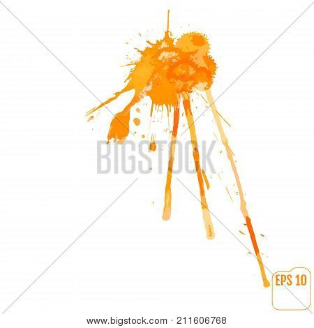 Paint Splat For Design Use. Abstract Vector Illustration.