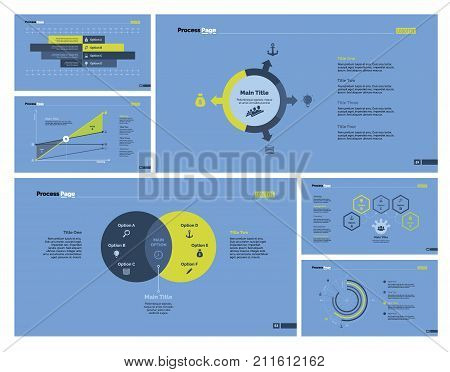 Infographic design set can be used for workflow layout, diagram, report, presentation, web design. Business and analysis concept with bar, line, venn, option, pie and flow charts.