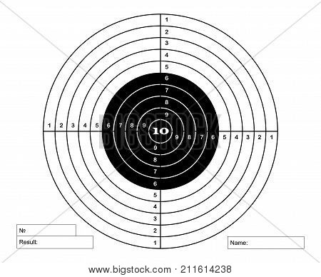 classical target for pneumatic shooting , vector