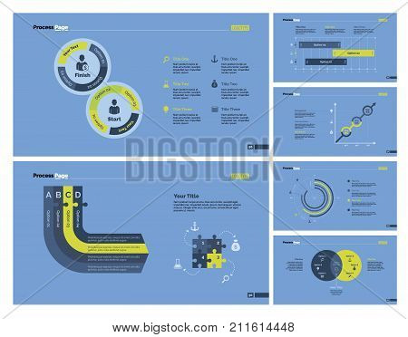 Infographic design set can be used for workflow layout, diagram, report, presentation, web design. Business and planning concept with doughnut, process, bar, line, venn and option charts.