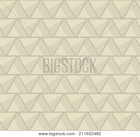 concept seamless pattern with pale mono-color geometry triangle. simple 3d illusion abstract geometry line motif for surface design